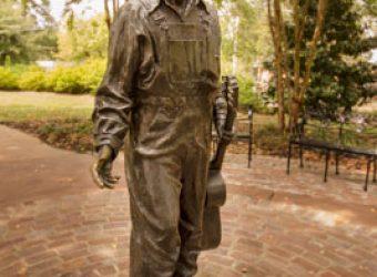 Michiel Van der Sommen's Elvis at 13, a popular meeting spot at the Elvis Presley Birthplace Complex