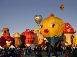 Special shapes rodeo at the Albuquerque Balloon Fiesta