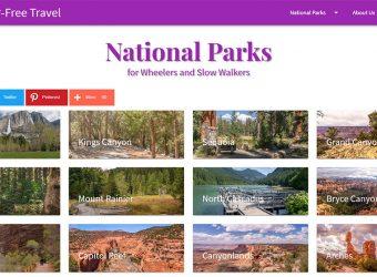 Screen shot of Barrier-Free National Parks website