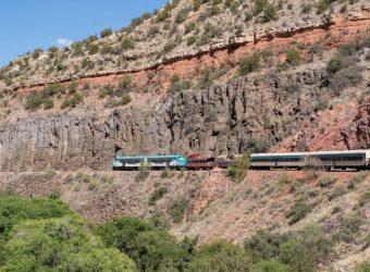 Verde Canyon Railroad train underway