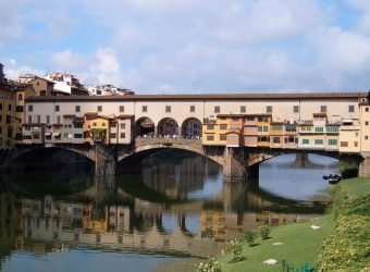 Ponte Vecchio, which spans the Arno river in Florence, Italy