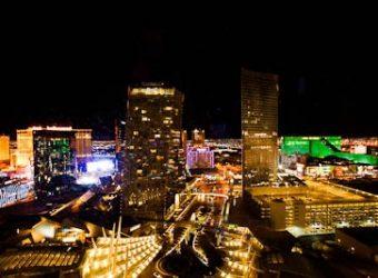 Lights of Las Vegas seen from room 28018