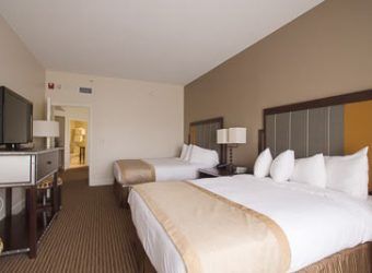 Guest bedroom in suite 1326 has plenty of maneuvering room