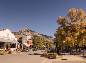 photo showing The village of Crested Butte