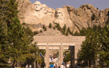 Mount Rushmore and the Avenue of the Flags