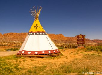 Teepee and view at Capitol Reef Resort