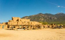 Taos Pueblo at the base of Sangre de Cristo Mountains