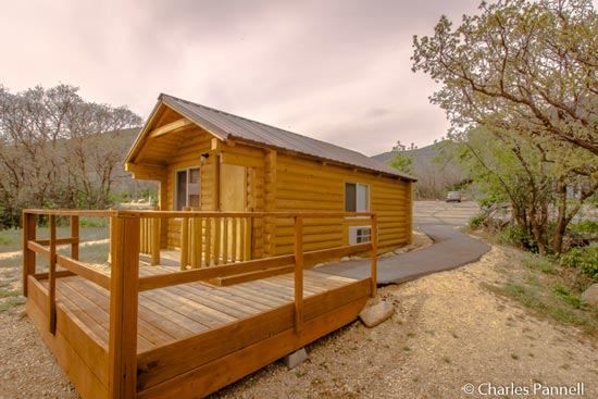 The Falcon's Ledge cabin at Wasatch Mountain State park in Utah