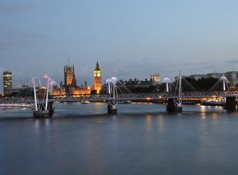 Houses of Parliament and the London Eye