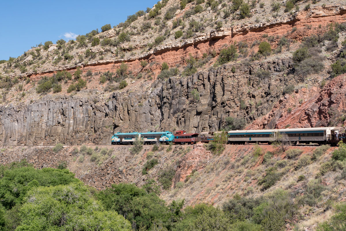 Verde Canyon Railroad train underway