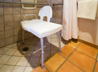 photo of shower chair with back