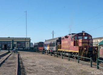 The Skunk Train at the Fort Bragg Depot
